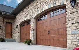 A Garage Door In Need Of Repair In Naperville, IL